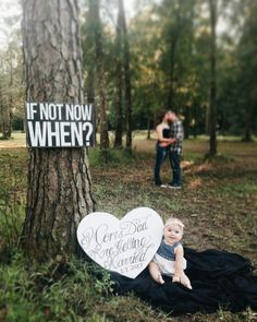 Save the date photo idea with baby! #savethedate