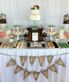 dessert buffet wedding cake sweets