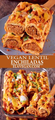 Vegan Enchiladas With Lentils Vegan Enchiladas With Lentils,rezepte für feste These protein-rich vegan enchiladas are made with lentils and other wholesome ingredients. They are gluten-free, plant-based, nut-free, perfect for lunch or dinner and very. Vegan Dinner Recipes, Mexican Food Recipes, Whole Food Recipes, Cooking Recipes, Healthy Recipes, Vegan Recipes Using Lentils, Yummy Vegan Meals, Plant Based Dinner Recipes, Vegan Lentil Recipes