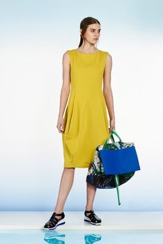 Architectural Lime Dress