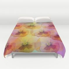 Buy ultra soft microfiber Duvet Covers featuring Pastel Pansies by thea walstra. Hand sewn and meticulously crafted, these lightweight Duvet Cover vividly feature your favorite designs with a soft white reverse side.