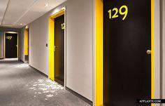 corridor color pop | Puro Hotel