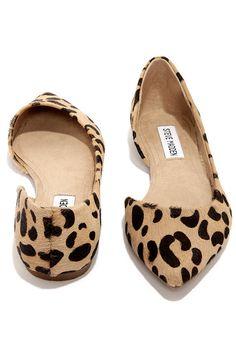 Steve Madden Elusion Leopard D'Orsay Flats