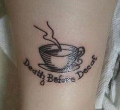 30 Tattoos For Coffee Addicts