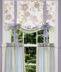Sweetwater Floral Lined Tie-Up Valance.  Going to make new curtains for our livingroom - different fabric.  Love the style.