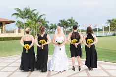 We love the different style #PGAbridesmaids dresses! #PGAweddings #PGAbrides Brian + Aileen Photo By Thompson Photography Group