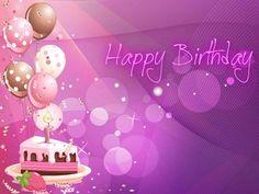 Happy Birthday Cake And Balloons