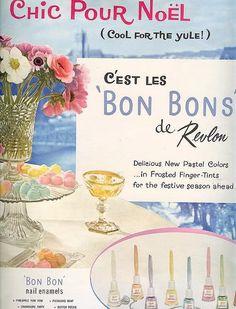Image detail for -Charming 1950s Revlon nail polish ad via sugarpie honeybunch on ...