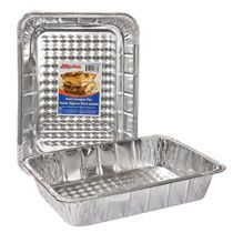 Filled with grilled chicken, burgers or brats, these foil pans will make serving a breeze.
