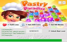 Pastry Paradise Hack (Lives, Coins, Medals) | Games Hooks