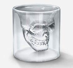 skull glass.