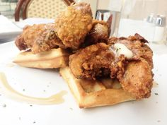 Chicken and Waffles at the Sugar Factory in Las Vegas, NV.