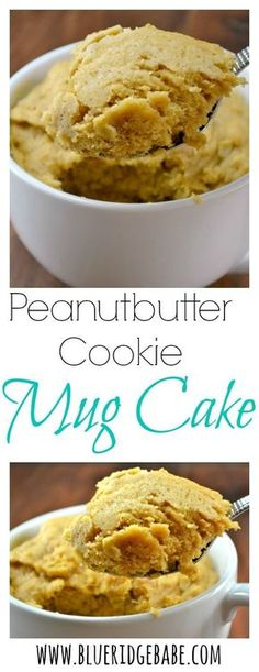 Gluten free, dairy free, refined sugar free recipe for peanutbutter cookie mug cake!