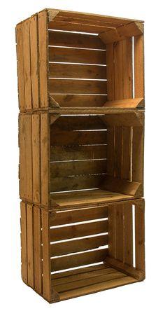 Lot de 3 cagettes en bois massif style rétro  http://www.homelisty.com/ou-trouver-caisses-en-bois-cagettes/