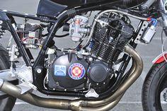 Bild Motorcycle Racers, Motorcycle Engine, Car Engine, Engineering Works, Katana, Custom Bikes, Cars And Motorcycles, Honda, Café Racers