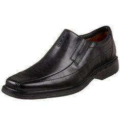 Clarks Unstructured Men's Un.Sheridan Dress Casual Slip On,Black,9 N US