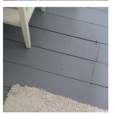 Great grey painted floorboards