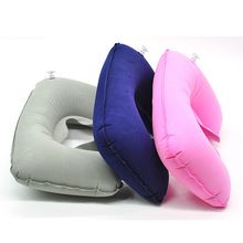 Functional Inflatable U Shaped Pillow Car Head Neck Rest Air Cushion for Travel Free Shipping(China)
