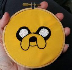 Adventure Time  Jake the Dog Embroidered Hoop by KingdomoftheGeek