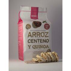 Galletas integrales de Arroz (60%), Centeno (25%) y Quinoa (15%), endulzadas con Stevia. Incluye salsa de Yogurt y Frambuesa en sachet. Contiene 6 porciones (54 galletas y 6 sachets).
