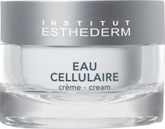 Rehydrate tired, dull and stressed skin with the Institut Esthederm Cellular Water Cream, a comforting, cocooning cream that boosts the skin's vital functions and cellular activity. The Cellular Water Cream will enwrap the skin in all the ben Institut Esthederm, French Pharmacy, All Things Beauty, Creme, Serum, Moisturizer, Skin Care, Engagement Rings, Water