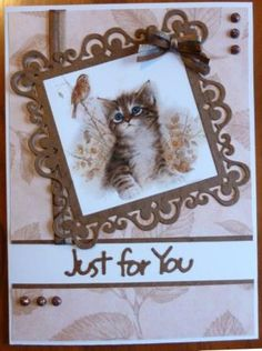 I have been making some cards with another of the Joanna Sheen CDs, this one is the Giordano Kittens and Puppies one. There are some very ...