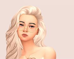 Female Fake Glasses Gold Round Glasses Pink Vibrant Maxis Match Sims 4 Female Ac… – Daily Posts for Women Maxis, Sims 4 Cc Skin, Sims 4 Mm Cc, Tumblr Sims 4, Sims 4 Pets, Jennifer Aniston, The Sims 4 Cabelos, Pelo Sims, Sims 4 Cc Kids Clothing