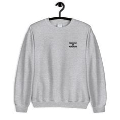 Streetwear brand that provides simple prints, hoodies, t-shirts and other clothings. Simple isn't boring. Print on demand clothes. Bride Sweatshirt, Grey Sweatshirt, Crew Neck Sweatshirt, Graphic Sweatshirt, Sweat Shirt, Thanksgiving Sweater, Drawn Art, Hand Drawn, Embroidered Sweatshirts