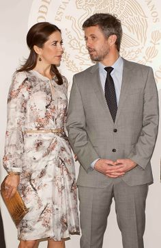 Crown prince Frederik and Crown princess Mary in Mexico City.