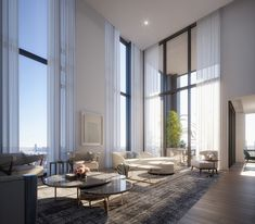 Image 3 of 6 from gallery of Rafael Viñoly Architects' NoMad Residential Tower 277 Fifth Tops Out in New York City. Photograph by Rafael Viñoly Architects Dream Home Design, Modern House Design, Home Interior Design, Interior Architecture, Interior Decorating, Pavilion Architecture, Architecture Magazines, Sustainable Architecture, Residential Architecture