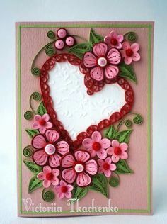 Valentines day  quilled heart