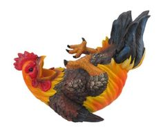 """Happy Feet Rooster Wine Bottle Holder by BL Gifts Imports. $12.22. 11""""L Made from hand painted polyresin.. Save 67%!"""