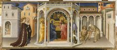 Gentile da Fabriano (c. 1370-1427), 1423, Presentation of Jesus in the Temple, tempera and gold on wood, 26.7 x 62.5 cm. Paris, Musée du Louvre, Département des Peintures, inv. 295