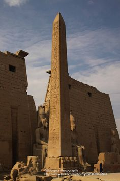 Obelisk at a Temple in Luxor, Egypt | photo by blauepics