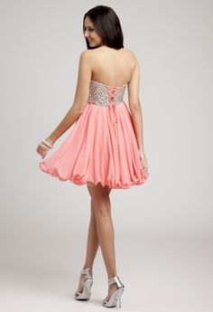 Prom Dresses 2013 - Short Strapless Jeweled Dress from Camille La Vie and Group USA