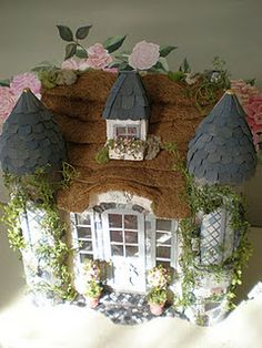 """Someday My Prince Will Come"" cottage dollhouse"