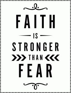 Silhouette Online Store - View Design #51254: faith is stronger than fear vinyl phrase