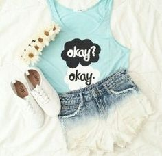 Cool und pretty For summer in school or on the beach I Luv this outfit