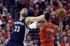 April 25, 2015 - NBA Playoffs - Memphis Grizzlies vs. Portland Trail Blazers: Live Score, Analysis for Game 3 - The Memphis Grizzlies beat the Portland Trail Blazers on the road 115-109 to take a 3-0 series lead! Marc Gasol contributed 25 points and seven rebounds in the win. (bleacherreport.com)