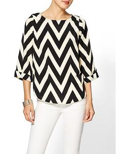 Everly Clothing Chevron Print Blouse | Piperlime