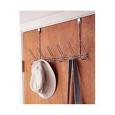 Chrome Overdoor Rack from The Container Store. Shop more products from The Container Store on Wanelo. Door Rack, Door Hangers, Bonfire Night Party Ideas, Custom Closets, Hanging Racks, Container Store, My Room, Dorm Room, Kitchen Organization