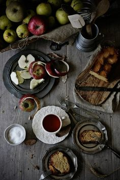 Bolo de maça caramelizada e calvados # Caramelized apple and calvados cake