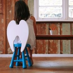 Banqueta Anjinho (Little Angel Stool) by Furf Design Studio (from Curitiba, PR - Brazil). Time Out Chair, Angel Kids, Just In Case, Just For You, Conkers, Wing Chair, Design Studio, Design Room, Kids Furniture