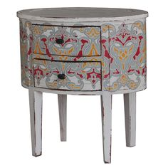 Lou Lou Bedside Cabinet. Customize items with any of our wide range of finishes, colors, and hand painted artwork. Any item can be painted in over million ways enabling items to be truly unique. The possibility are nearly endless and include stained, distressed, textured, antiqued, weathered and metallic finishes. In addition, artwork is available on most items. Items can be customized with any of our hand painted designs.#StevenShell