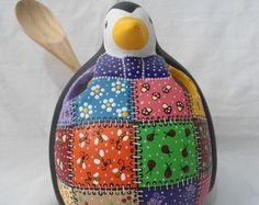 Pinguim Gordo porta talher Retalhos