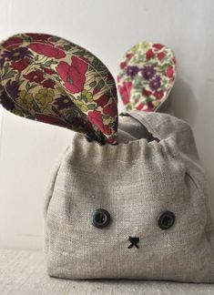bunny bags << from a Japanese craft book.