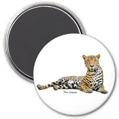 Jaguar image for Round Magnet - home gifts ideas decor special unique custom individual customized individualized