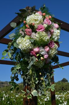 Hanging Ceremony Arrangement of Blush & White