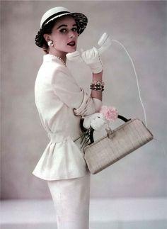 Christian Dior, 1952 - Peplum & pencil skirt.