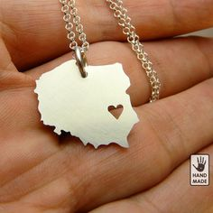 POLAND sterling silver pendant sterling silver by StefanoArt Poland Map, Polish Girls, European Countries, My Heritage, Warsaw, Ukraine, Krakow, Polish Recipes, Box